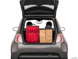 Display Trunk view of the Fiat 500e