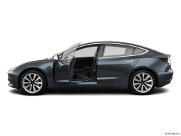 Display Side view of the Tesla Model 3