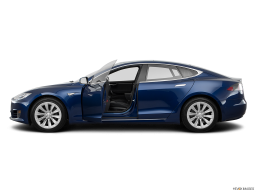 Display Side view of the Tesla Model S