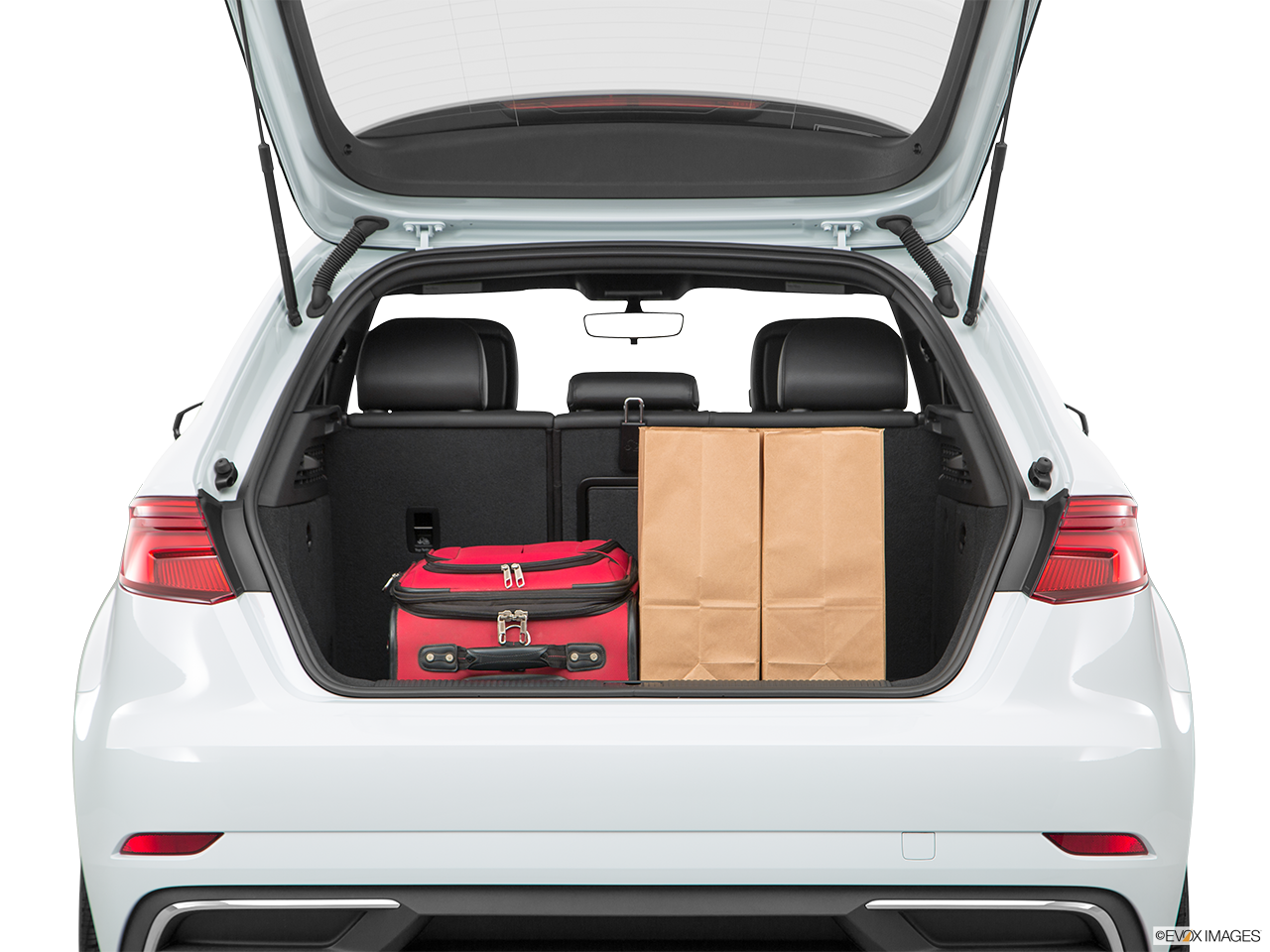 Trunk view of the Audi A3 e-tron