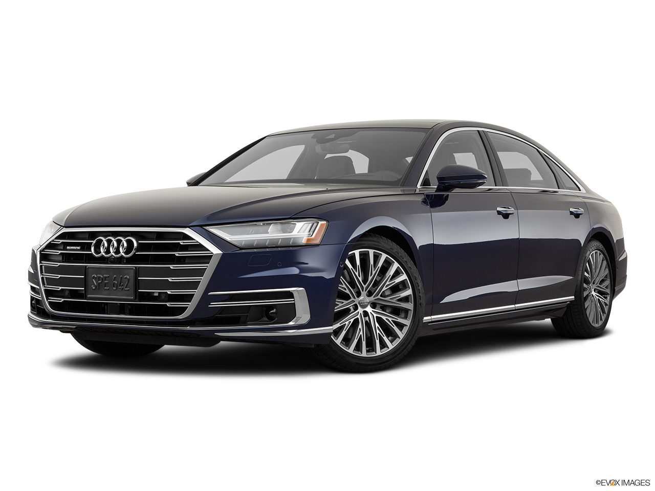 Three quart view of the Audi A8 L