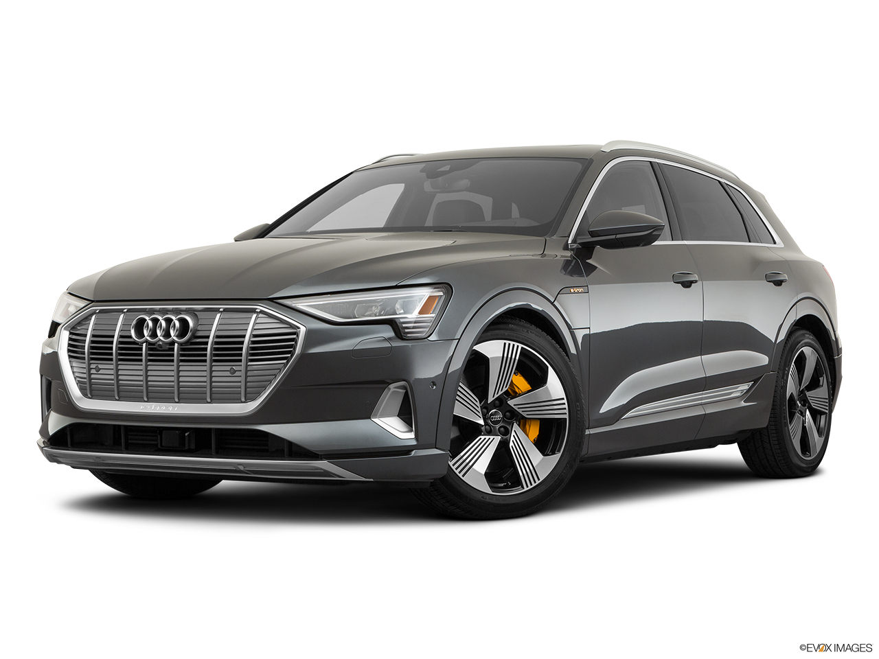 Three quart view of the Audi e-tron