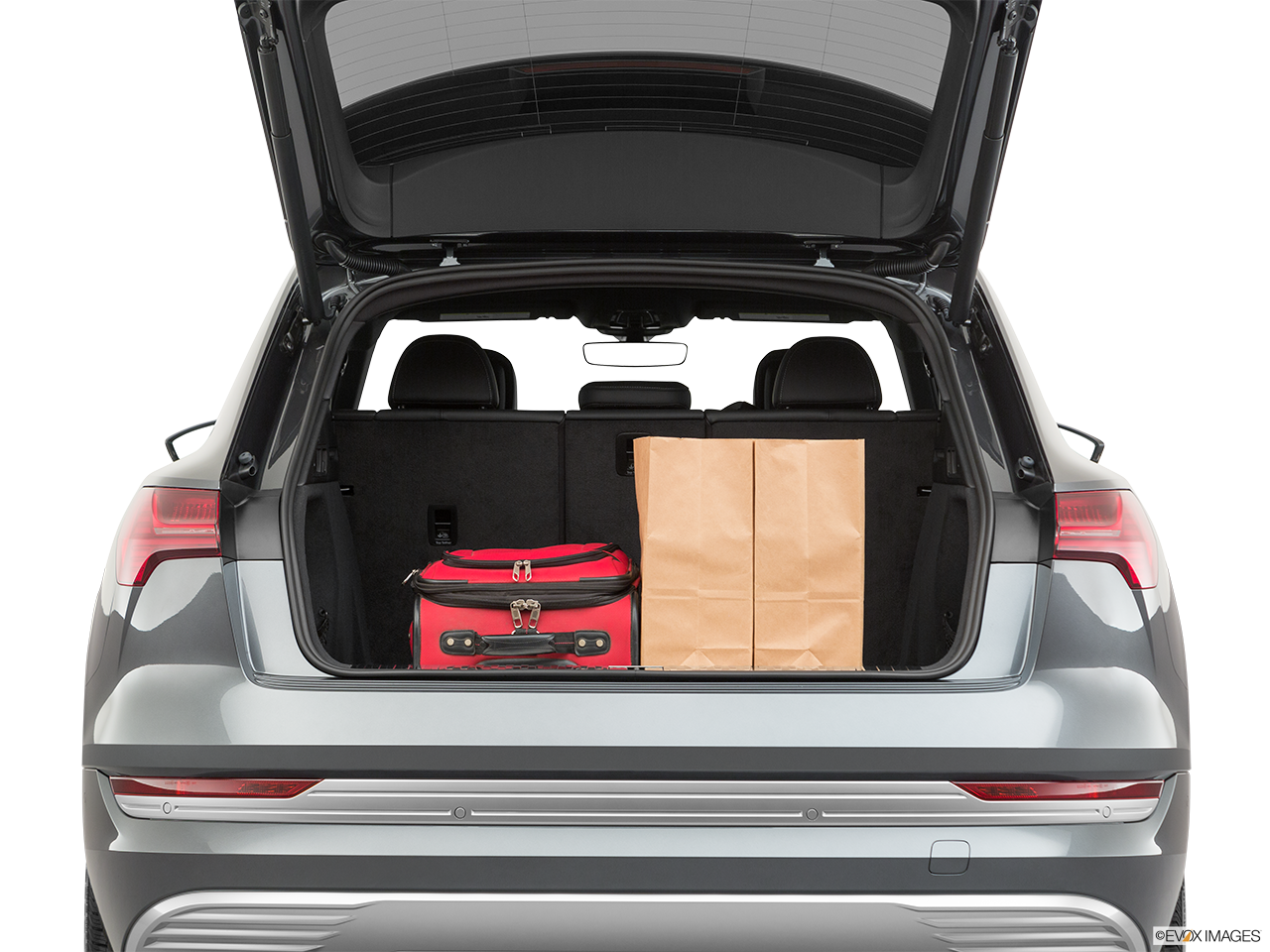 Trunk view of the Audi e-tron