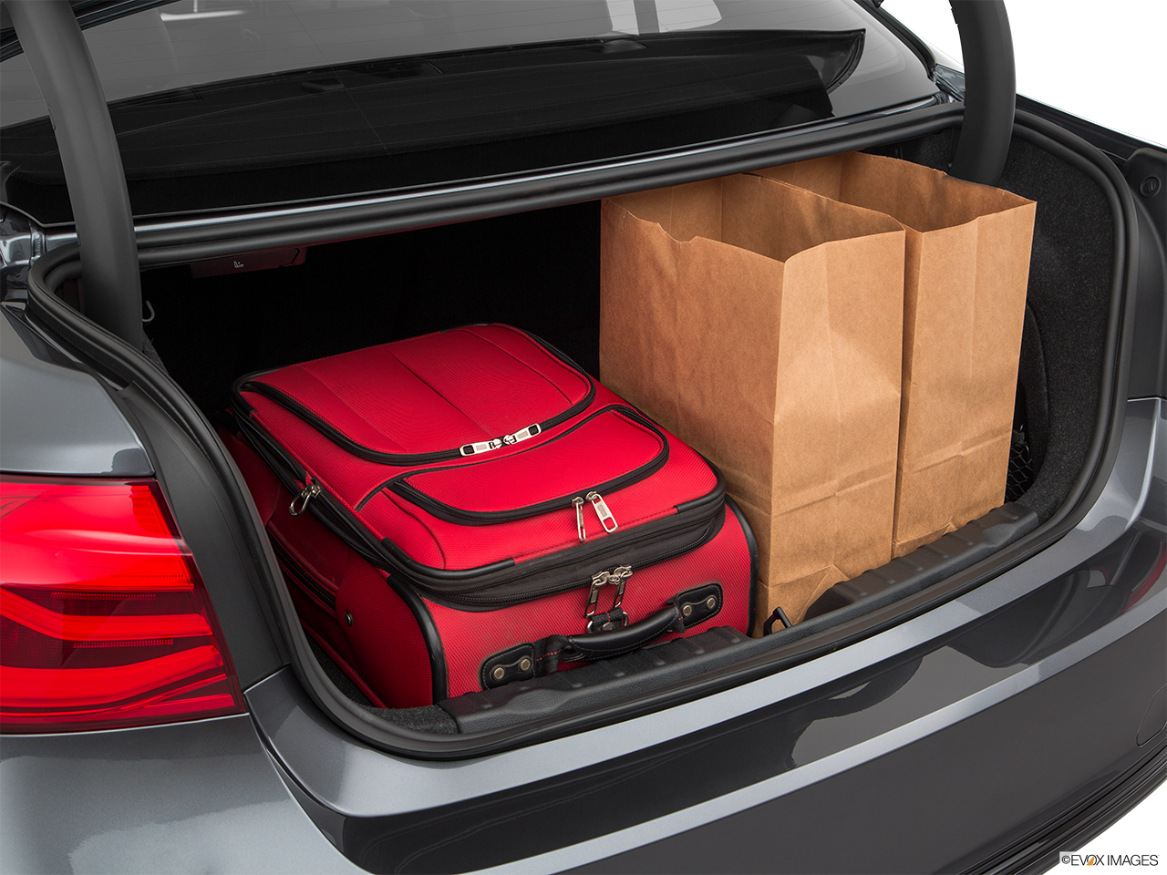 Trunk view of the BMW 330e