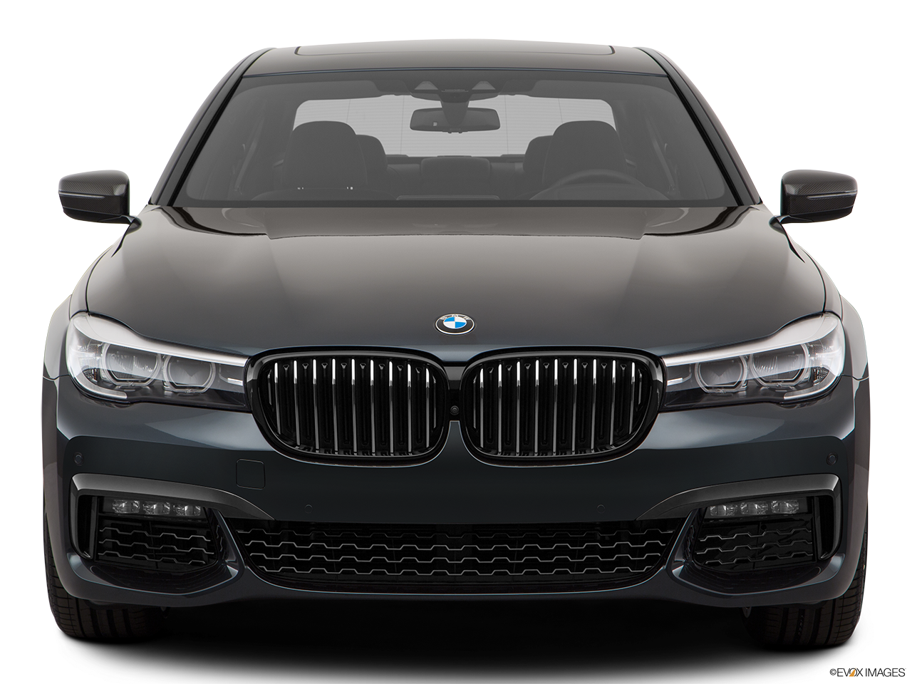 Front view of the BMW 740e