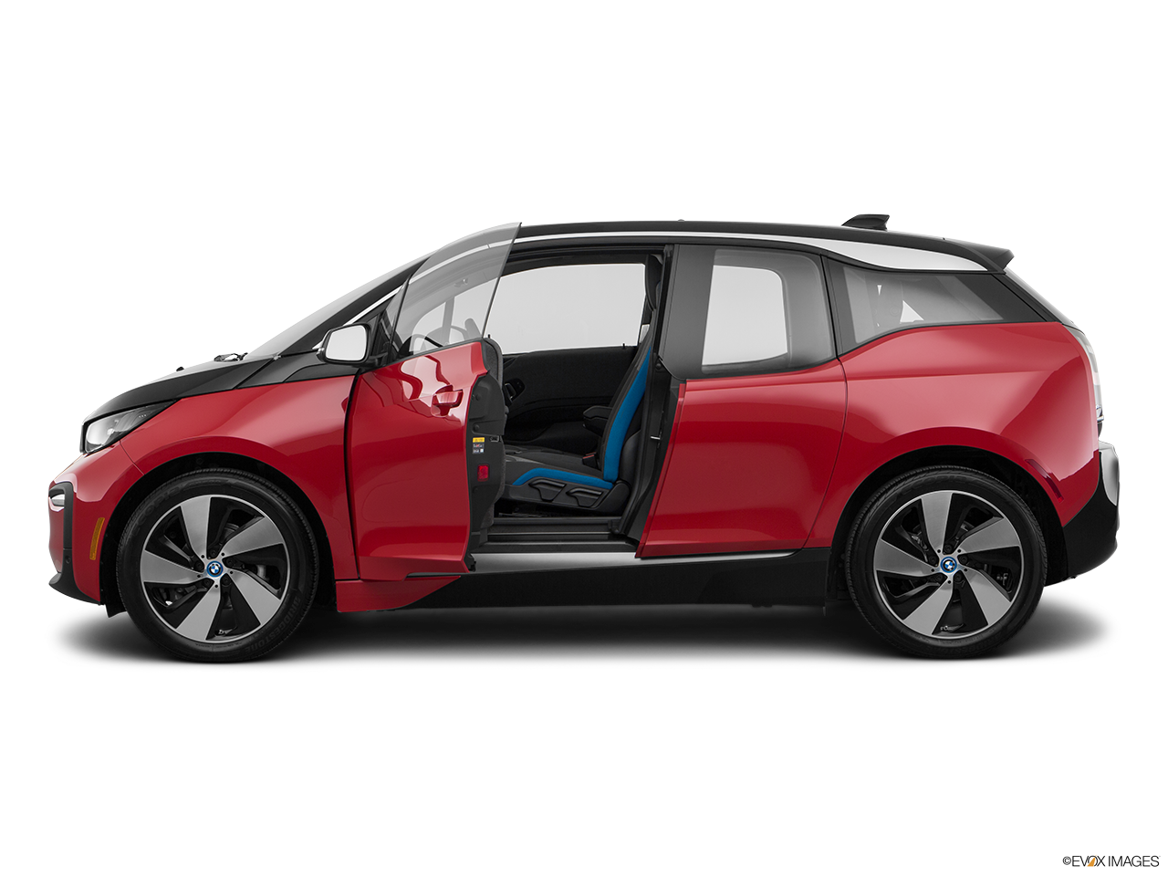Side view of the BMW i3