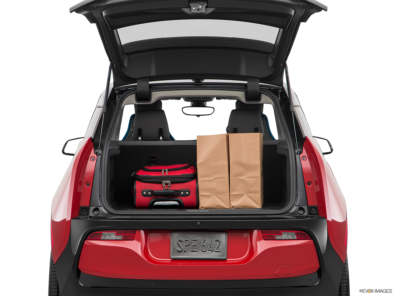 Trunk view of the BMW i3