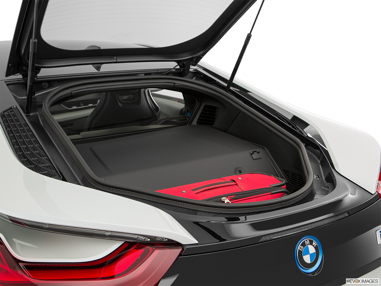 Trunk view of the BMW i8