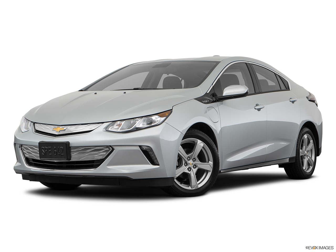 Three quart view of the Chevrolet Volt
