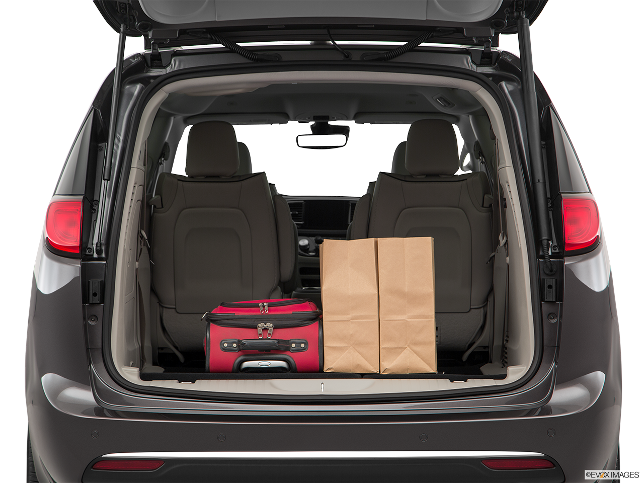Trunk view of the Chrysler Pacifica