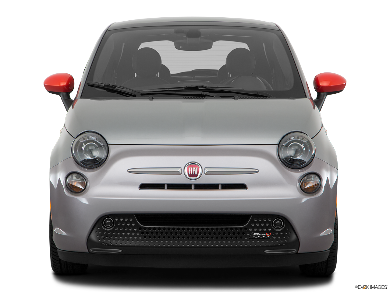Front view of the Fiat 500e