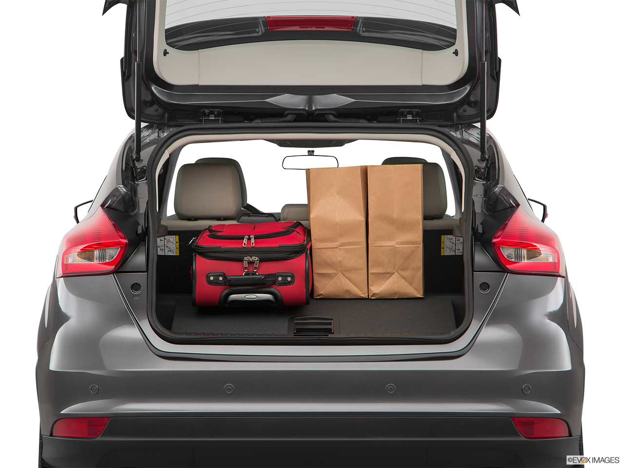 Trunk view of the Ford Focus Electric