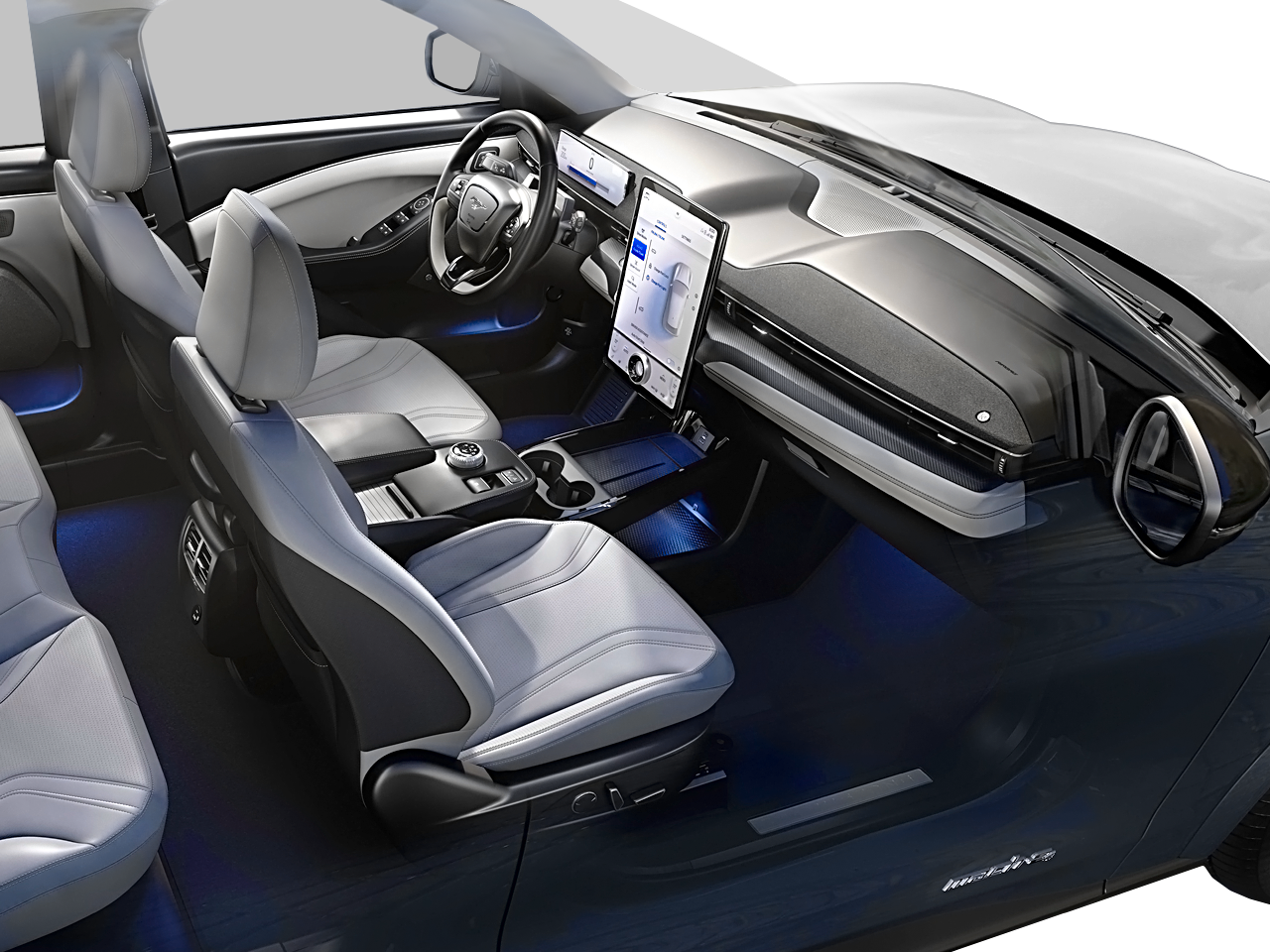 Interior view of the Ford Mustang Mach E