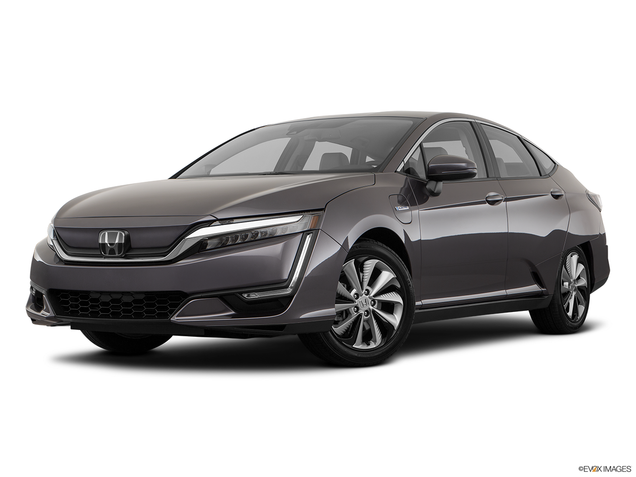 Three quart view of the Honda Clarity Electric