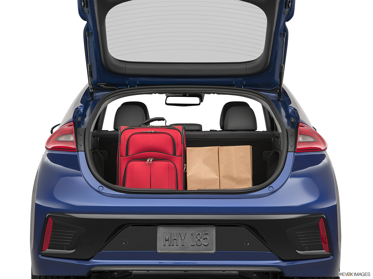 Trunk view of the Hyundai Ioniq Plug-In Hybrid