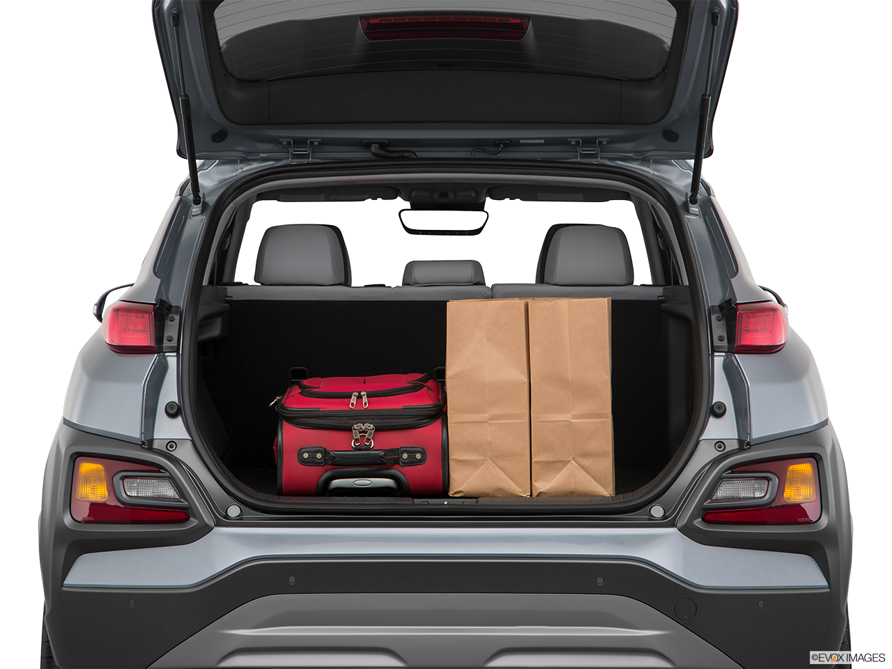 Trunk view of the Hyundai Kona Electric