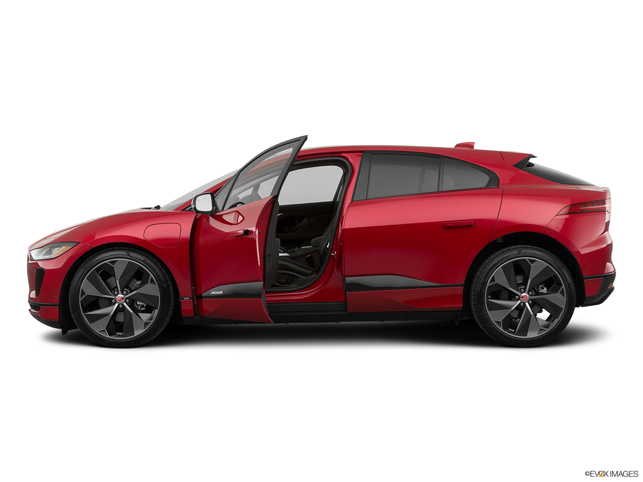 Side view of the Jaguar I-Pace