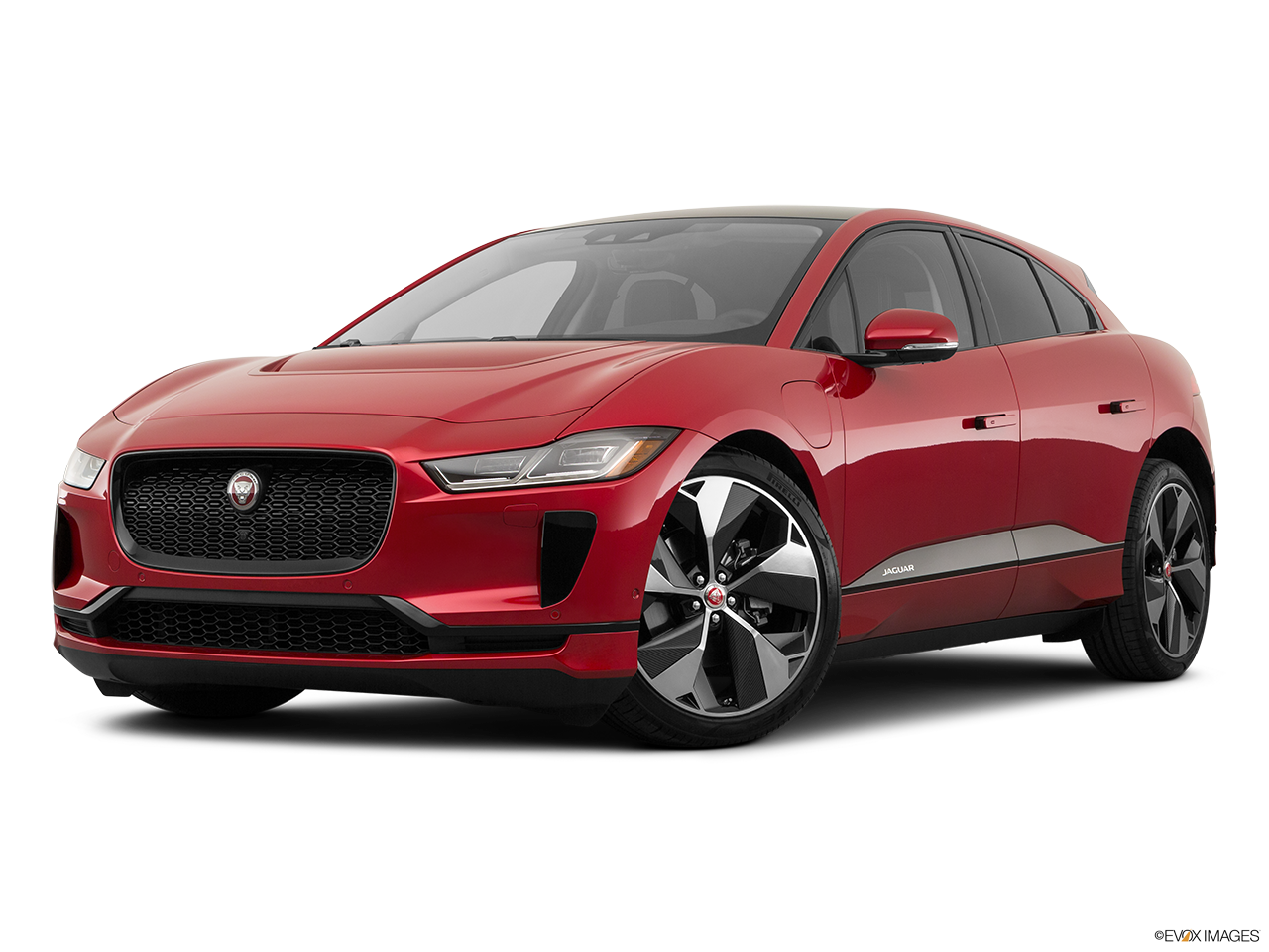 Three quart view of the Jaguar I-Pace
