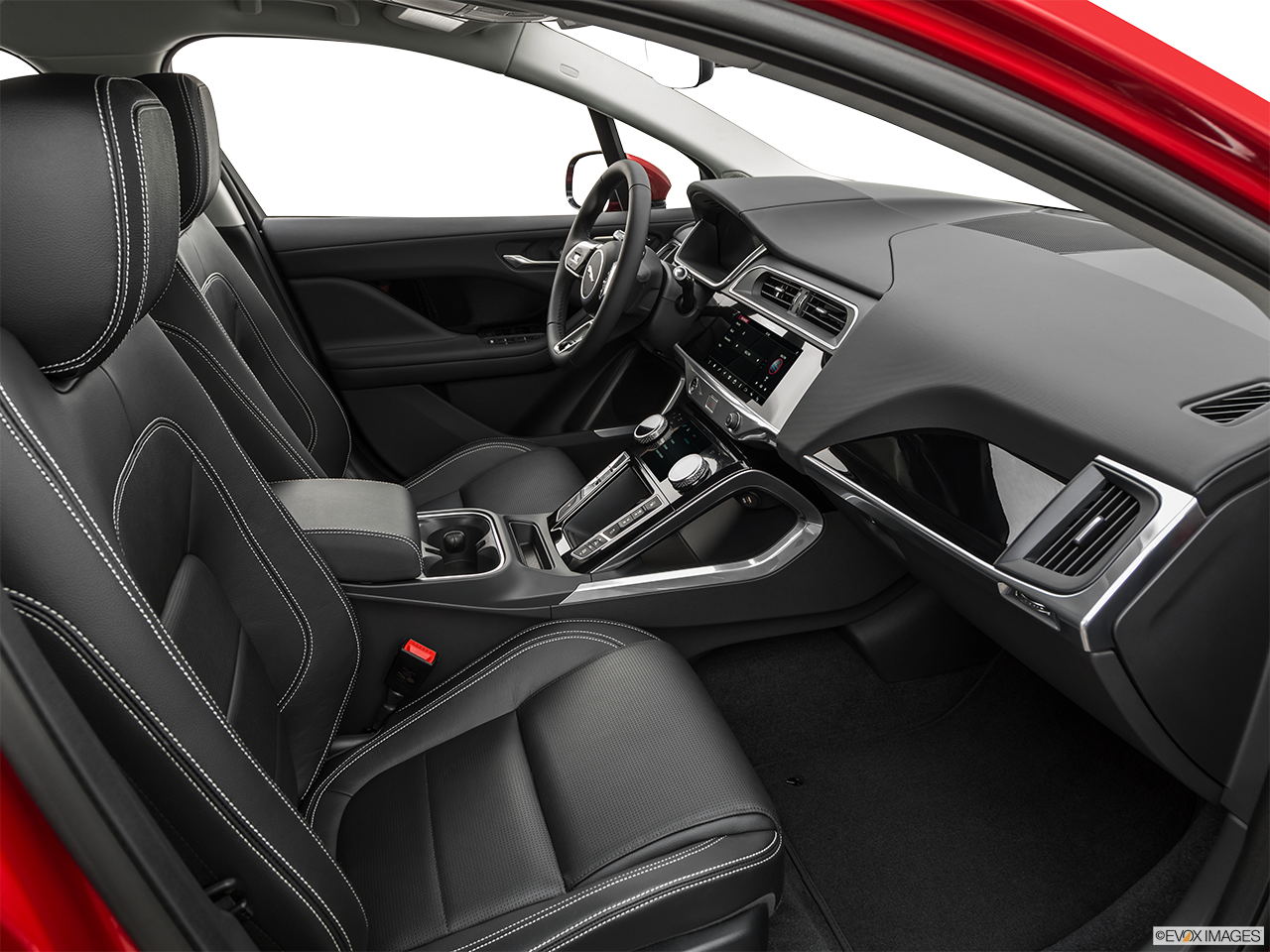 Interior view of the Jaguar I-Pace