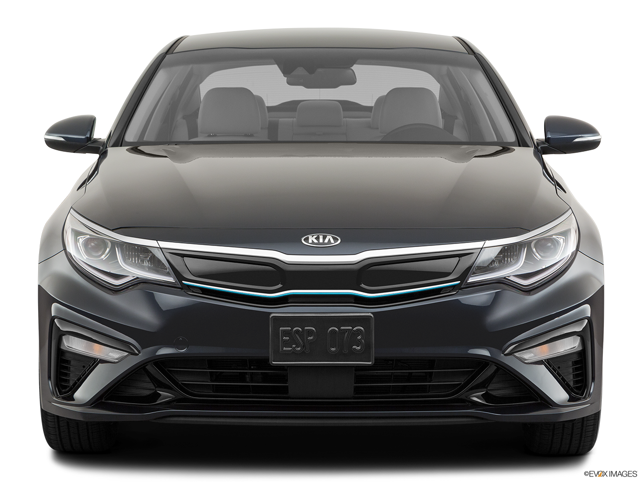 Front view of the Kia Optima PHEV