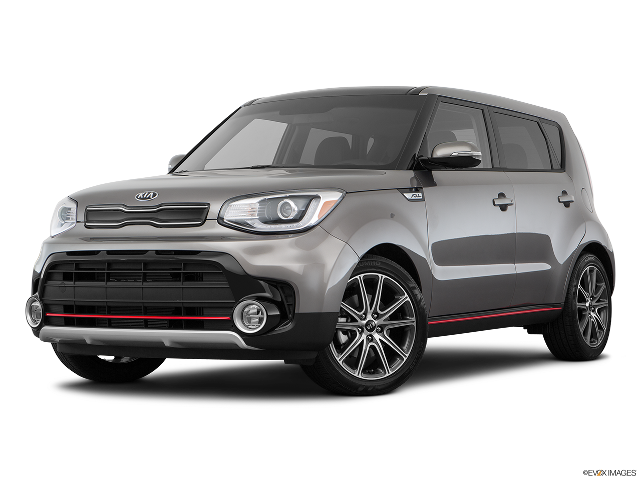 Three quart view of the Kia Soul EV