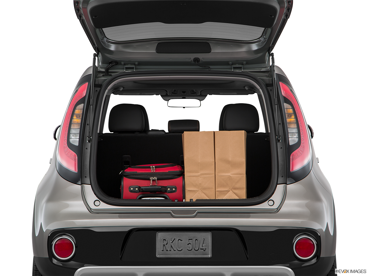 Trunk view of the Kia Soul EV