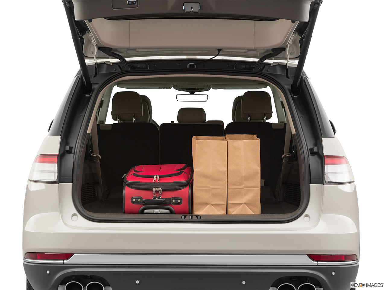 Trunk view of the Lincoln Aviator Grand Touring
