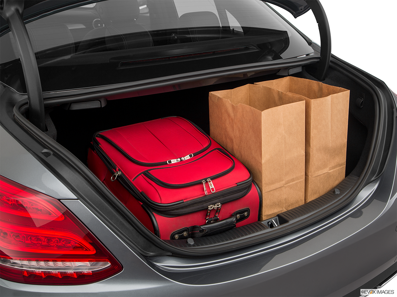 Trunk view of the Mercedes-Benz C350e