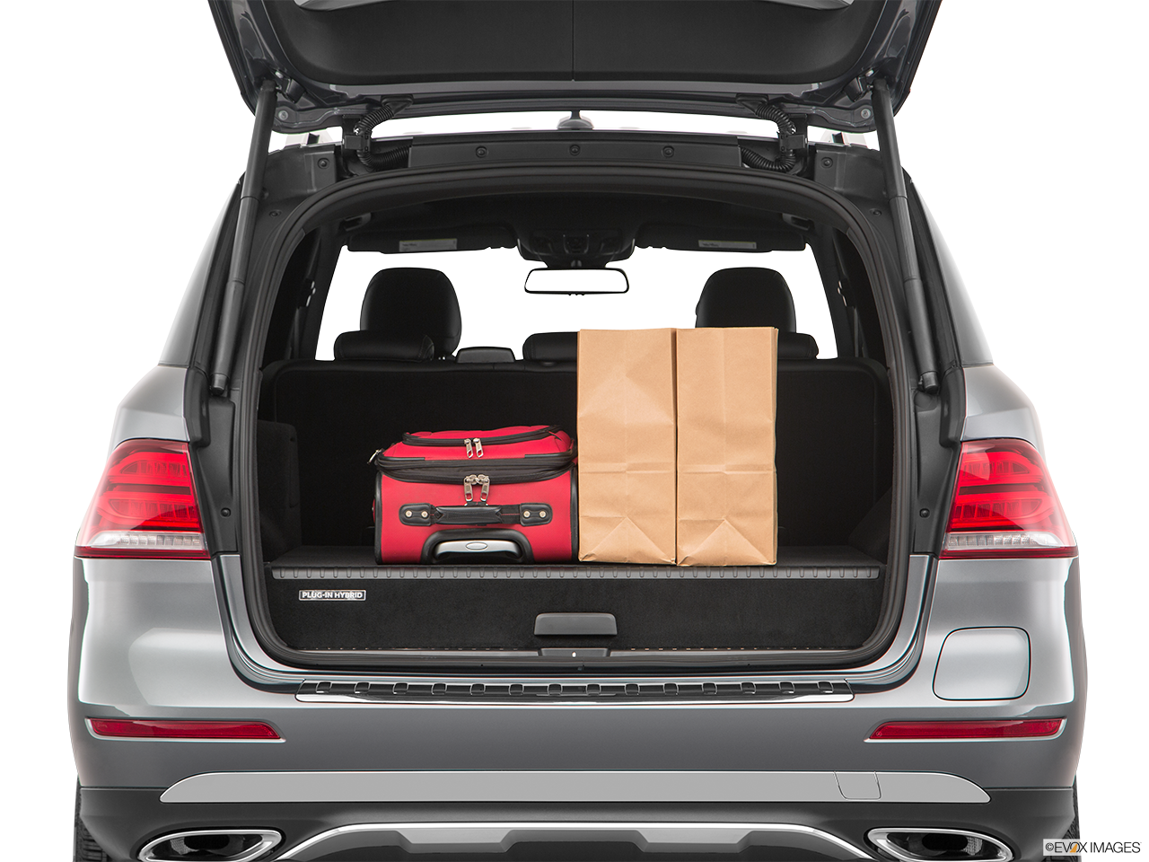Trunk view of the Mercedes-Benz GLE550e