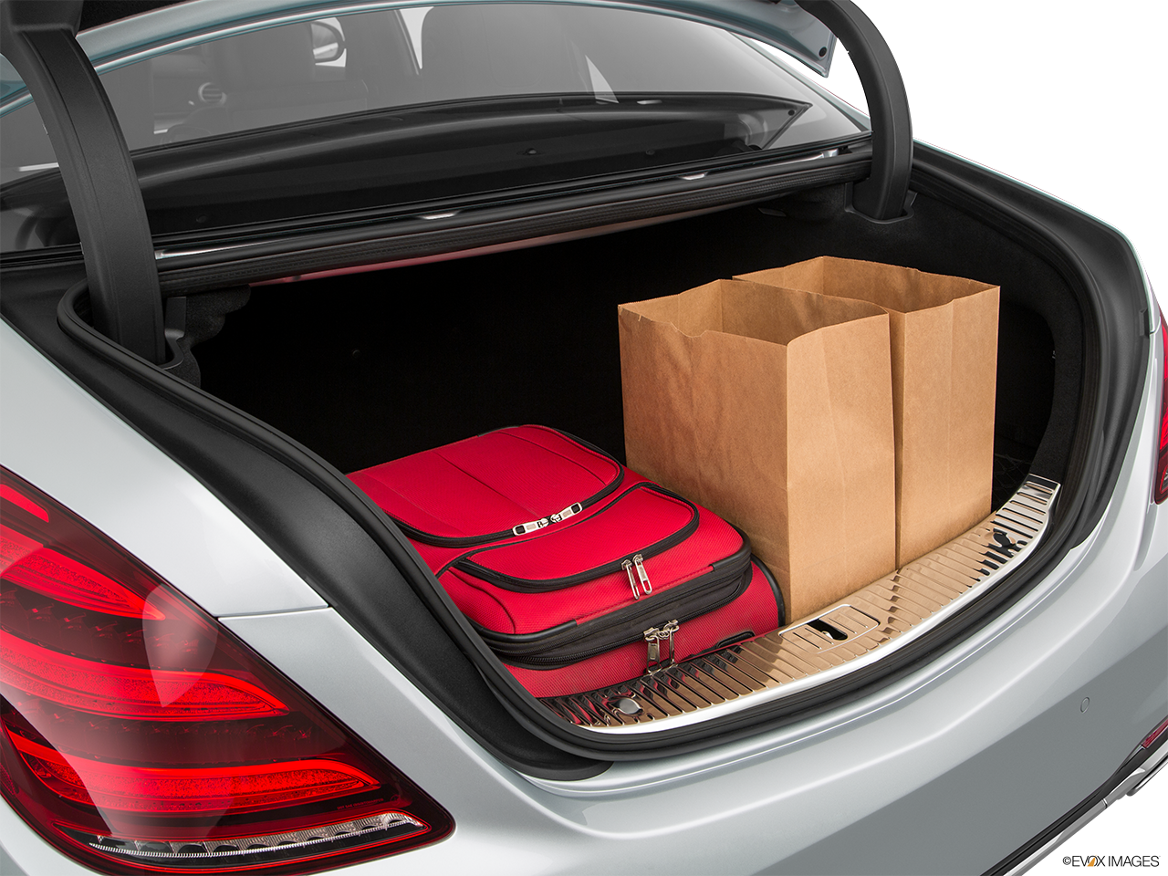 Trunk view of the Mercedes-Benz S560e