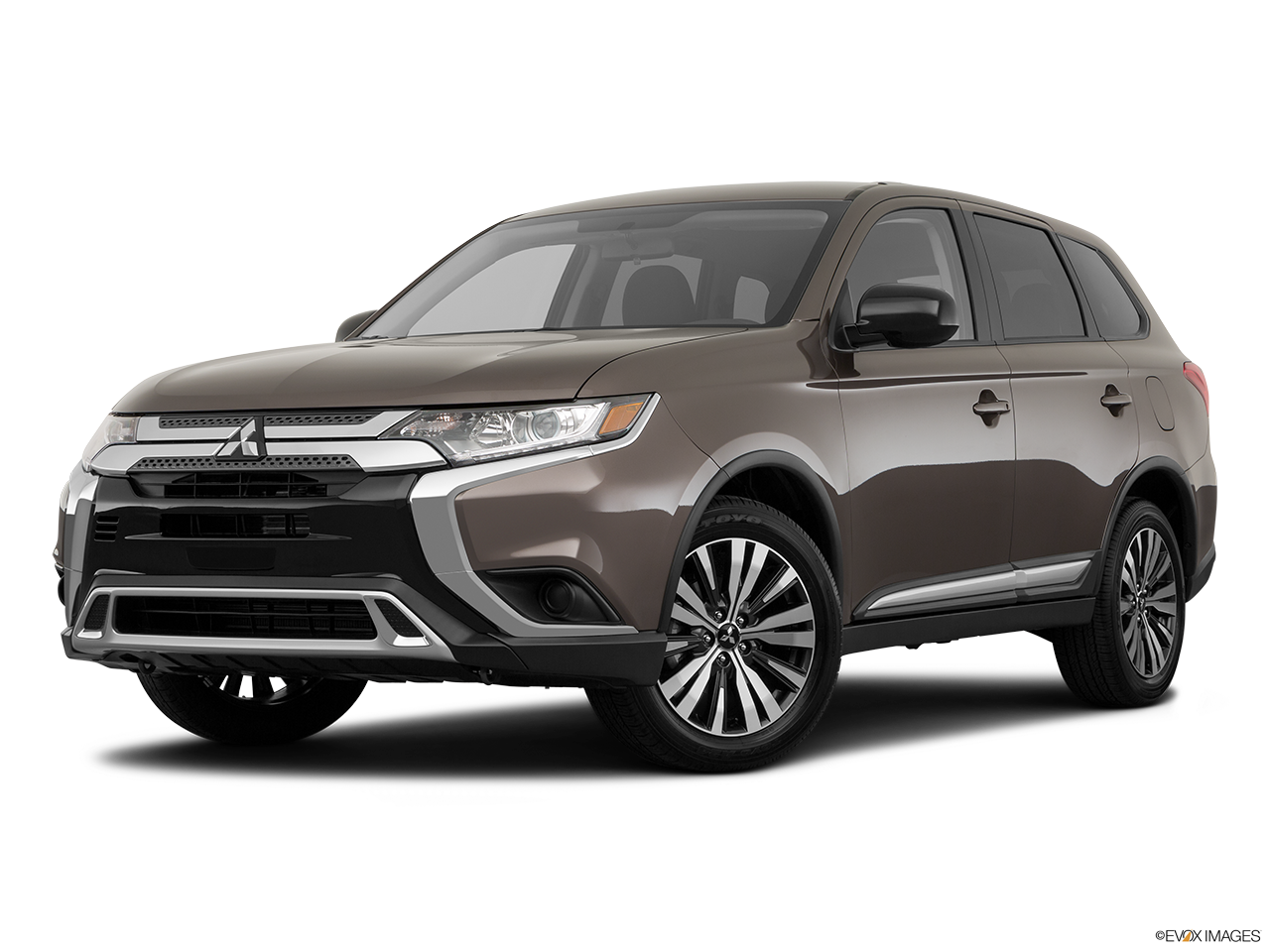 Three quart view of the Mitsubishi Outlander PHEV