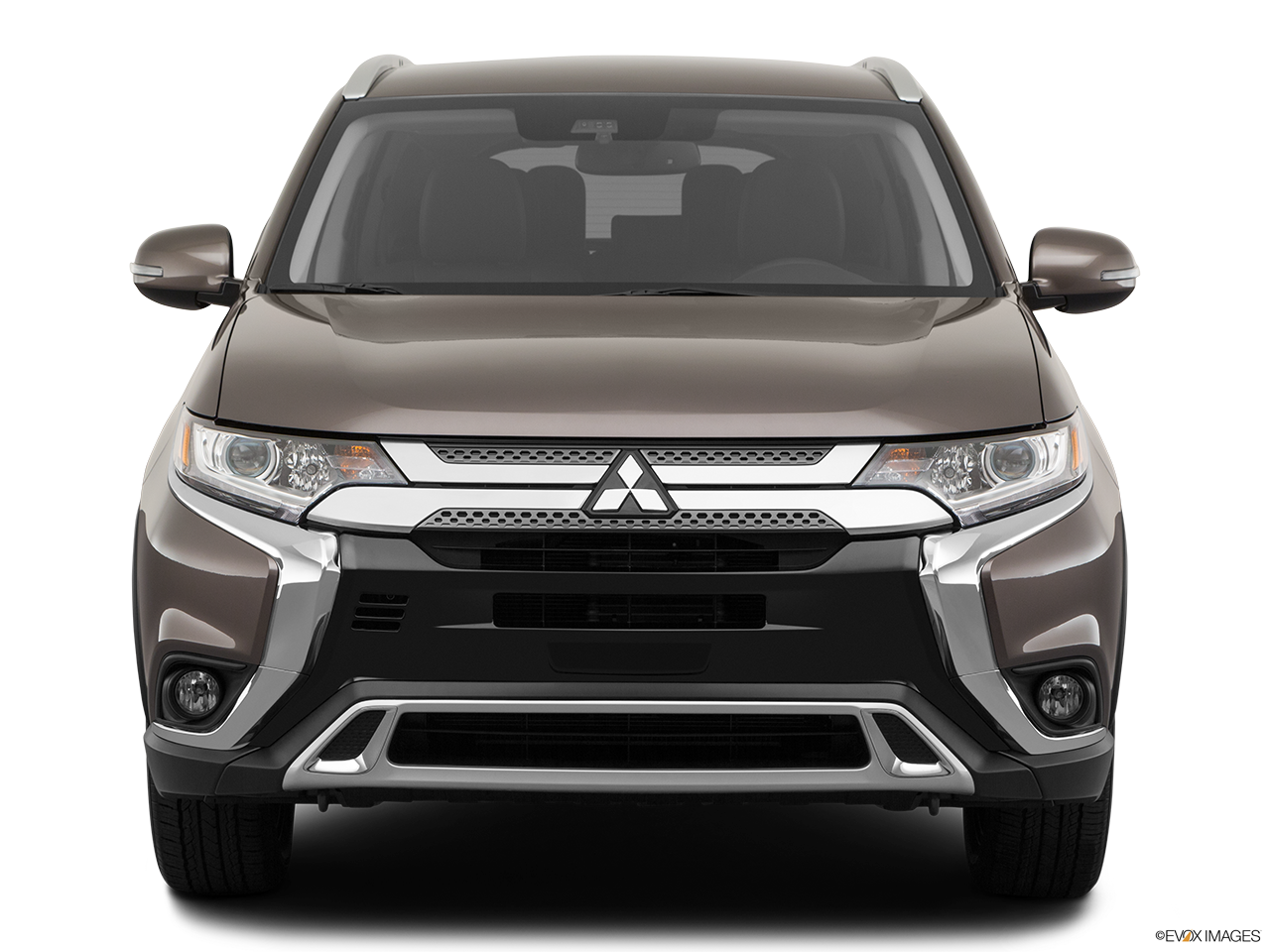 Front view of the Mitsubishi Outlander PHEV