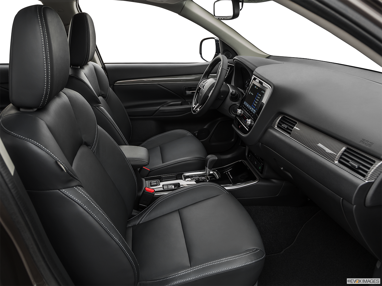 Interior view of the Mitsubishi Outlander PHEV