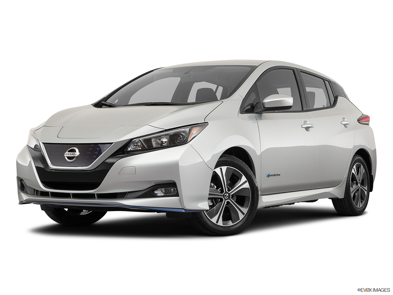 Three quart view of the Nissan LEAF