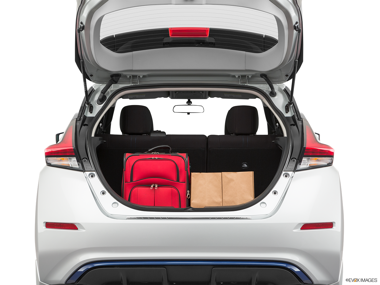 Trunk view of the Nissan LEAF