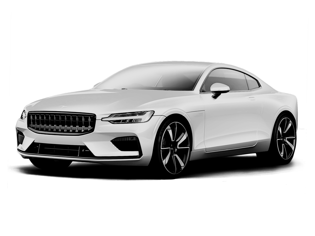 Three quart view of the Polestar 1