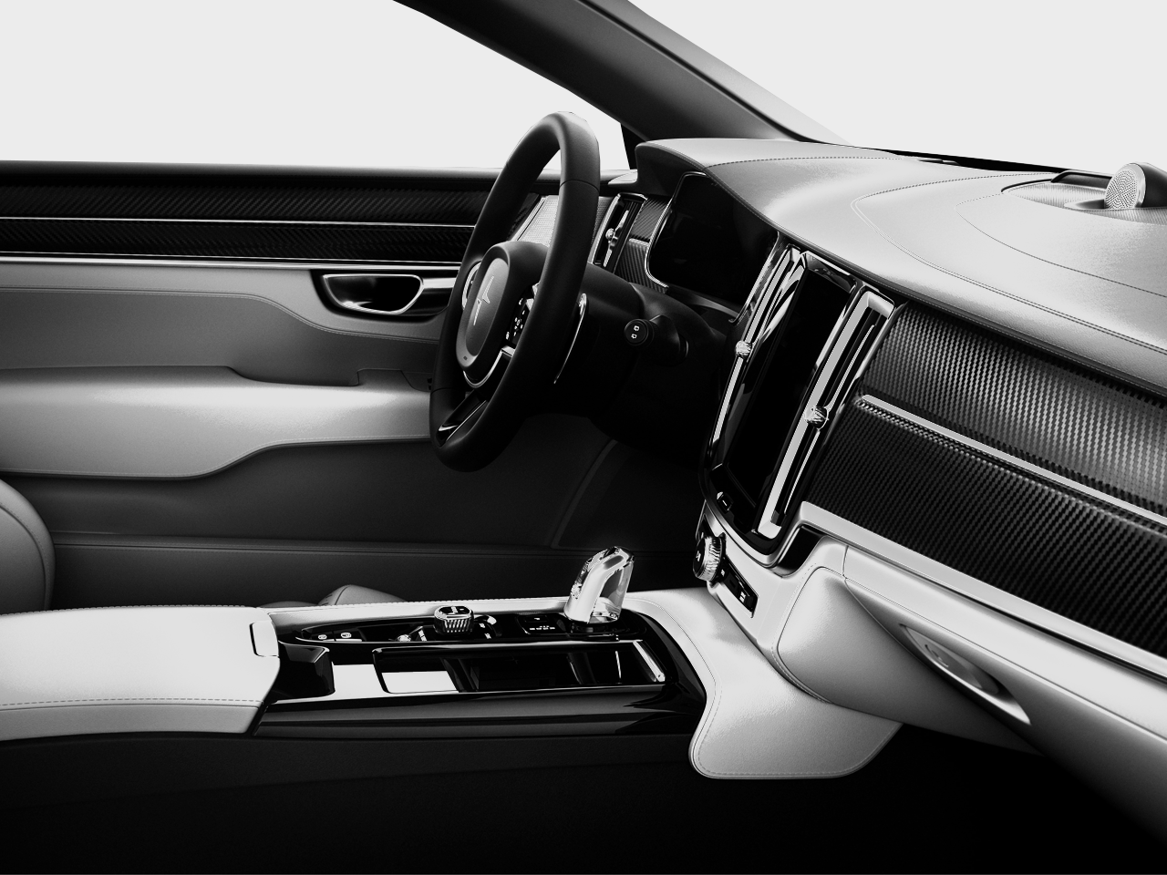 Interior view of the Polestar 1