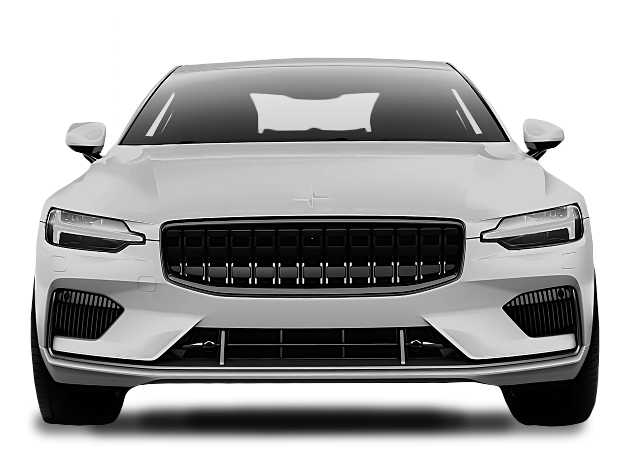 Front view of the Polestar 1