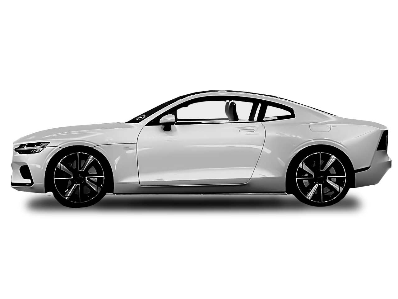 Side view of the Polestar 1