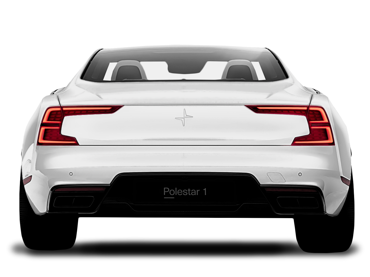 Trunk view of the Polestar 1