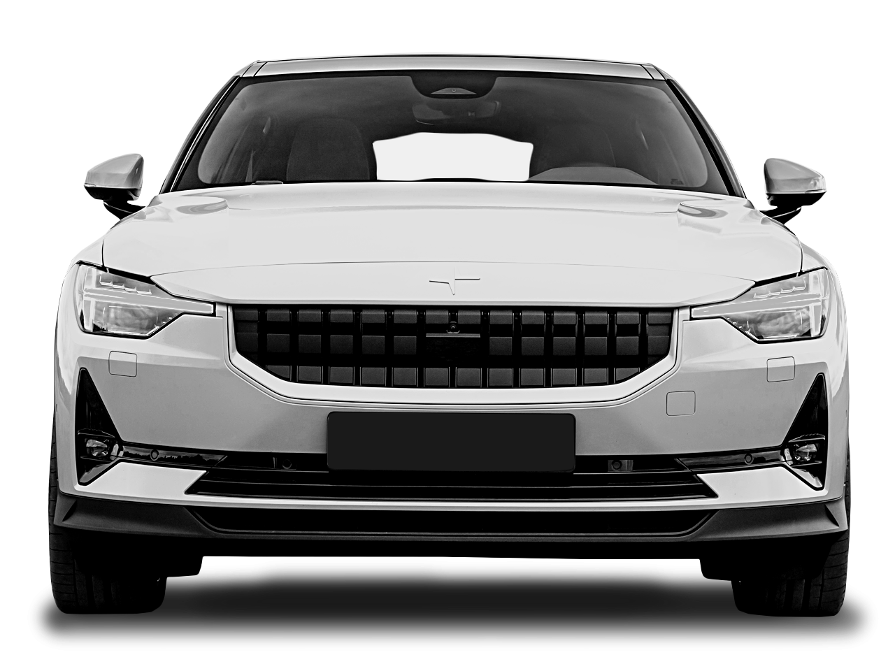 Front view of the Polestar 2