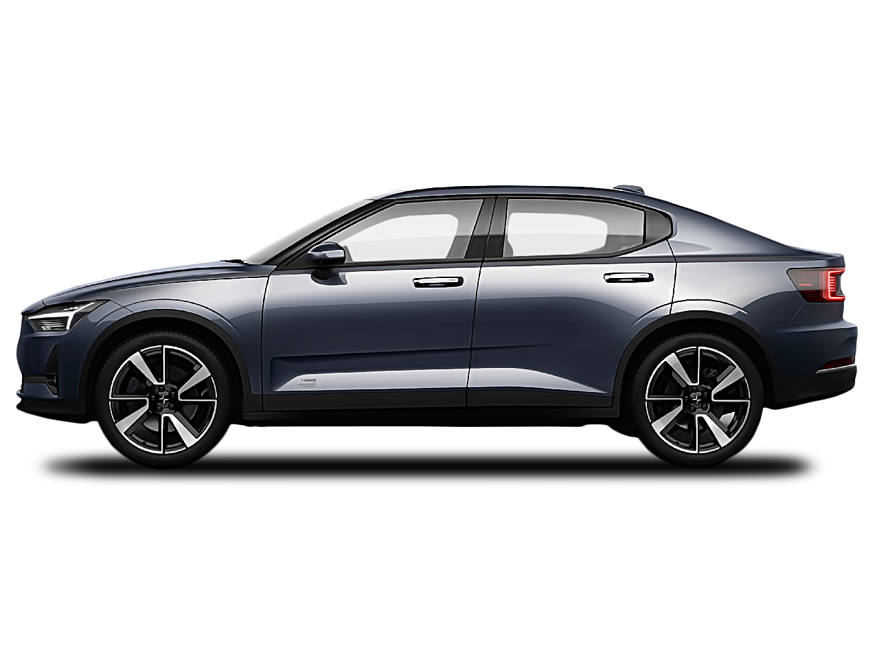 Side view of the Polestar 2