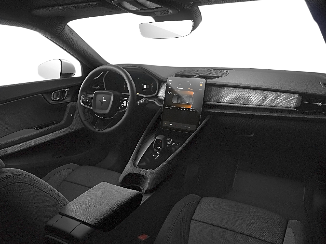 Interior view of the Polestar 2