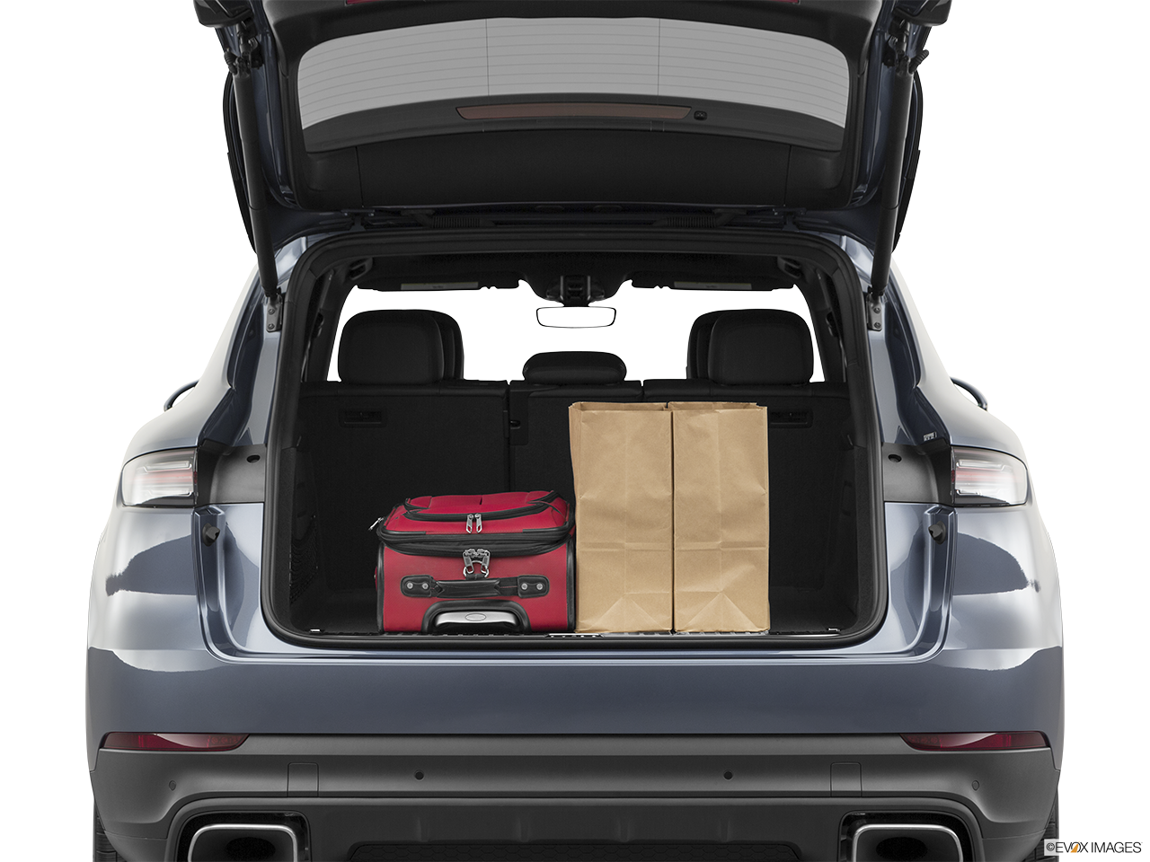 Trunk view of the Porsche Cayenne S E Hybrid