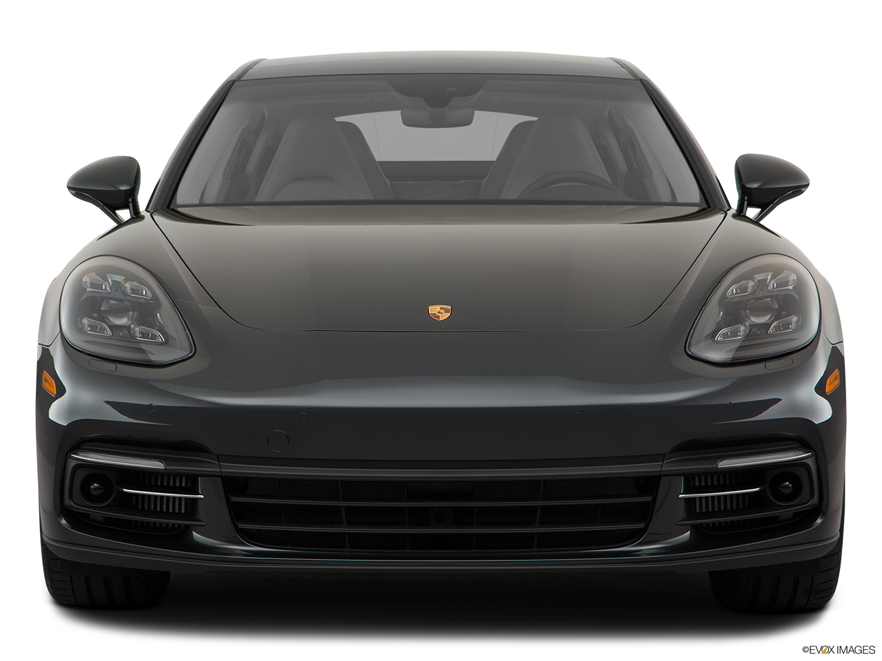Front view of the Porsche Panamera Turbo S E-Hybrid