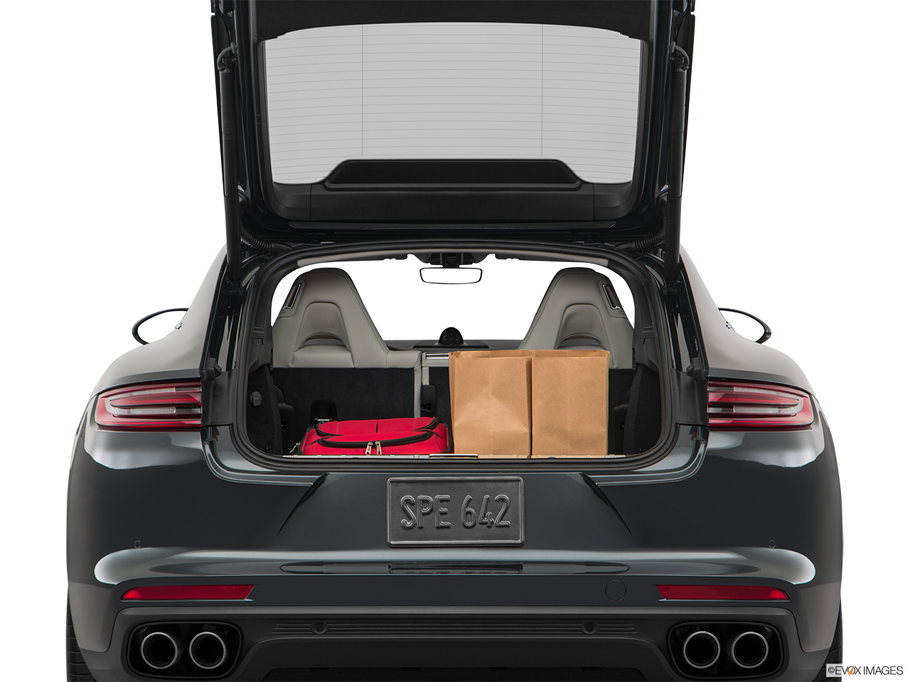 Trunk view of the Porsche Panamera Turbo S E-Hybrid