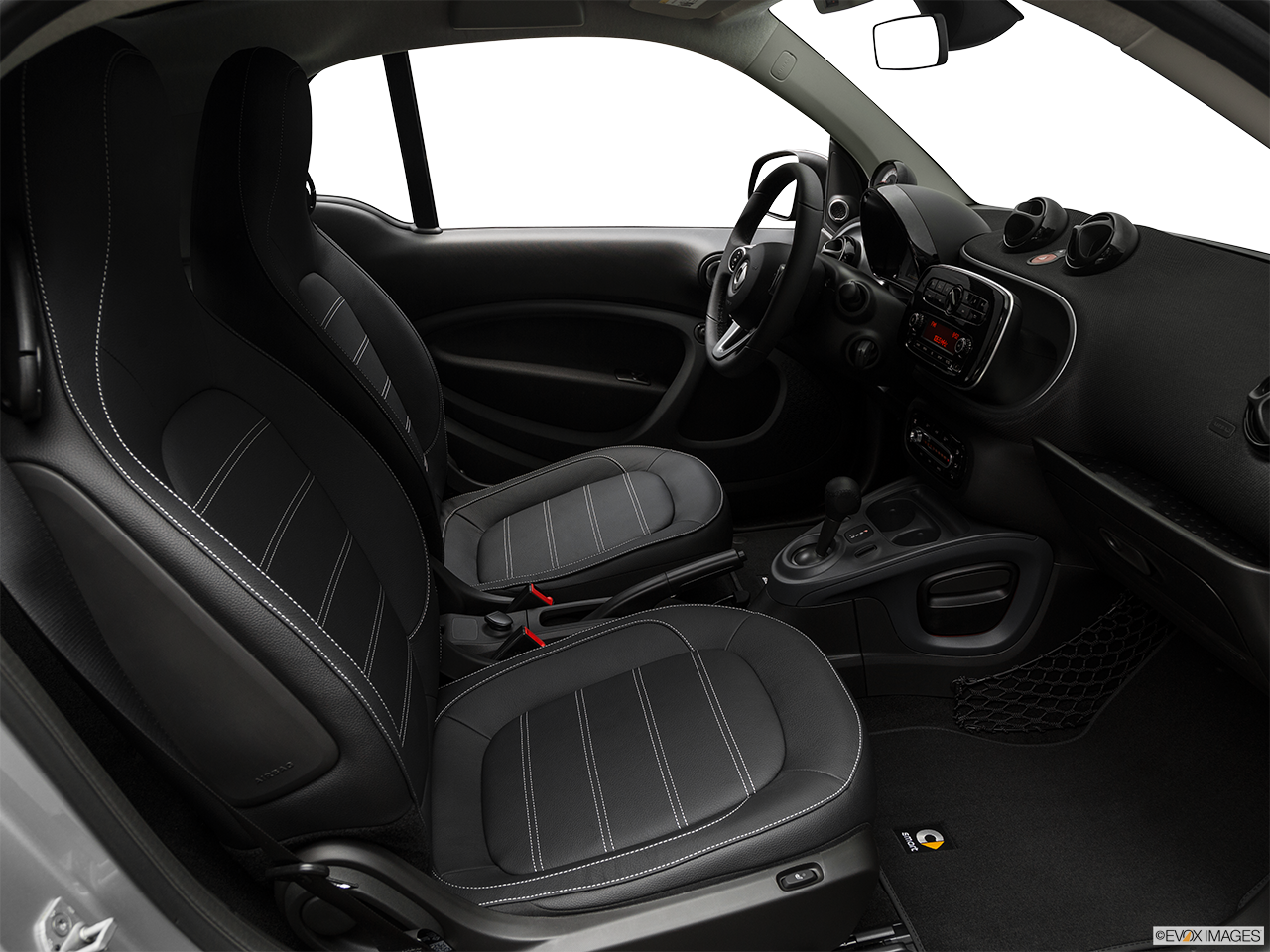 Interior view of the Smart fortwo electric
