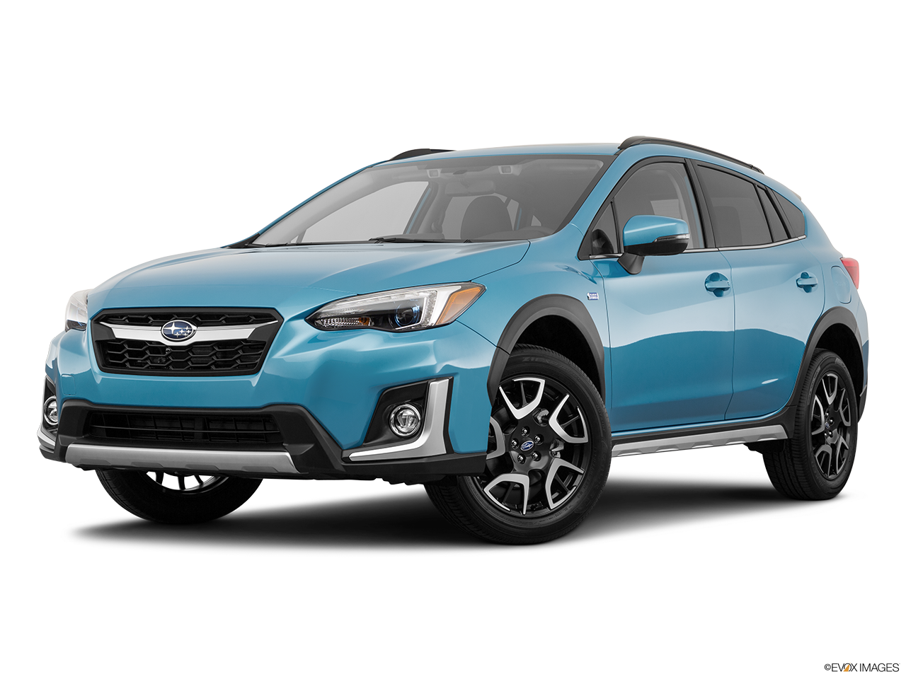 Three quart view of the Subaru Crosstrek Hybrid