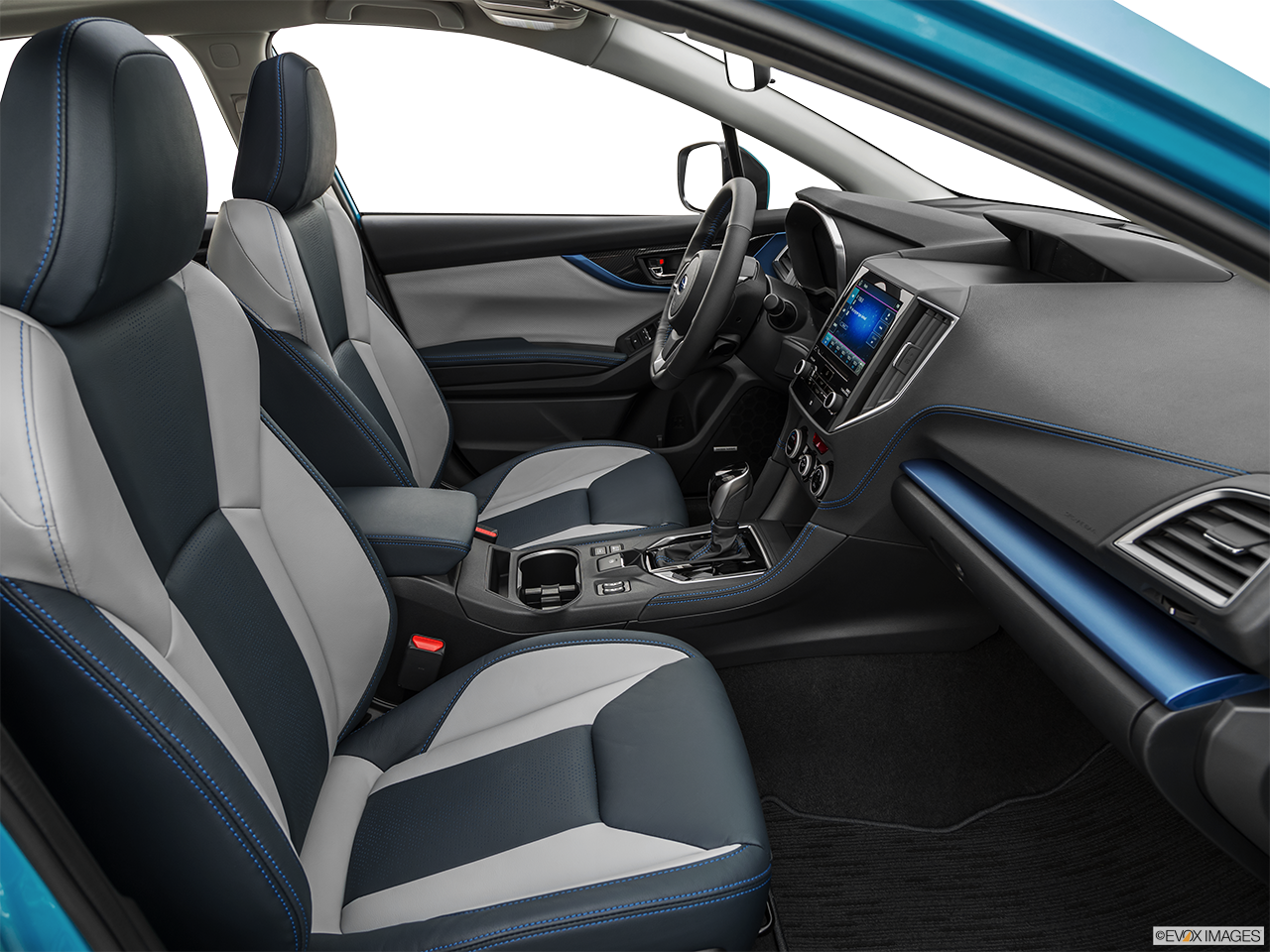 Interior view of the Subaru Crosstrek Hybrid