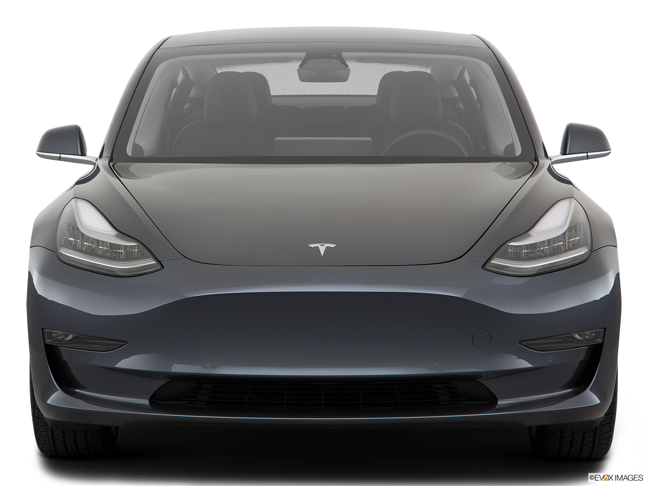 Front view of the Tesla Model 3